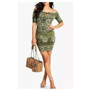 GUESS Tanlee- Off - The Shoulder  Bodycon Dress